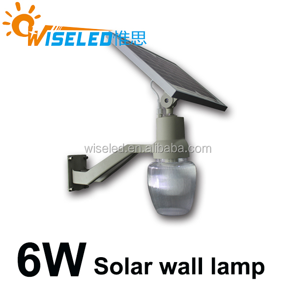 outdoor 6w solar led garden lamp led wall light LED Apple solar light IP65 waterproof