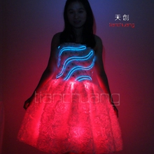 Irradiative LED Princess Short Skirts, Wifi Remote for LED Light Dress