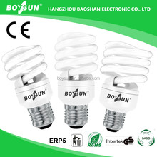 Long lifespan 10000hrs 8W 12W 14W 20W 23W Energy Saving Bulb Parts Cfl Tube