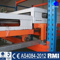 Heavy duty pallet sliding push back rack