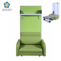 modern space saving transformable with sofa and bookshelf hidden murphy wall bed JL-WD07