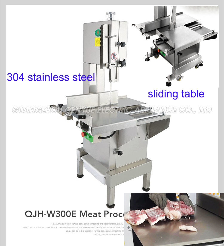 industrial electric 304 stainless steel meat bone saw machine meat band cutting processing machine for chopping bones