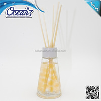 2015 Glass bottle liquid reed diffuser/ reed diffuser with sticker/ home air freshener