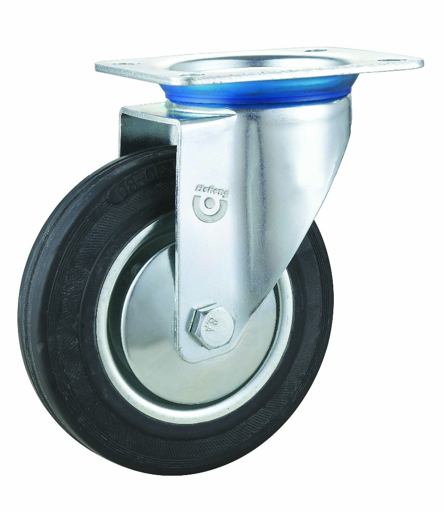 Industrial Swivel Caster Type 200mm Rubber Wheel for Made in China