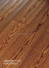 Chinese factory made engineered water proof fire proof laminate Ash wood flooring
