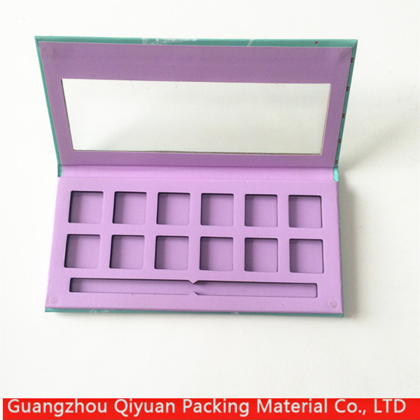 Custom empty cosmetics paper private label eyeshadow palette
