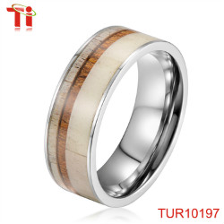 Dongguan Aohua Jewelry 7mm protect sleeping resin inlay ring men with purple resin inlay the ridge TUR10231