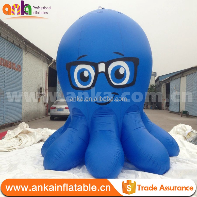 Customized giant inflatable octopus cartoon model, inflatable animals