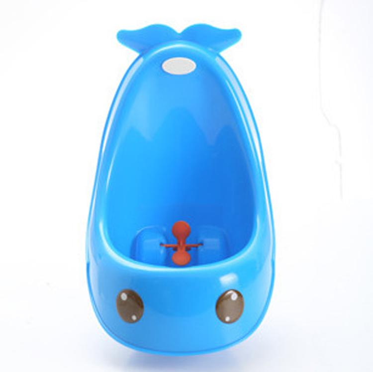 Wholesale sanitary and convenient handle boy Whale urinal 2017 lovely Frog plastic baby potty training XL031