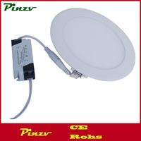 6W LED Round/Square Recessed Ceiling Flat Panel Down Light