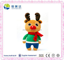 Cute Plush Christmas Animal Toy Red Nose Reindeer Toy
