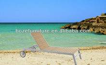 outdoor beach wooden daybed / wooden foling recliner lounge