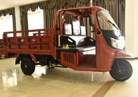 cheap price with good quality 200CC/250CC/300CC heavy loading adult rickshaw three wheel car with cabin for sale in Haiti