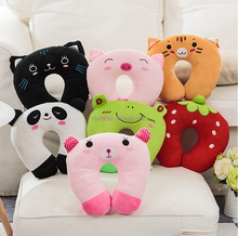 cartoon soft plush stuffed travel neak pillow U shape pillow
