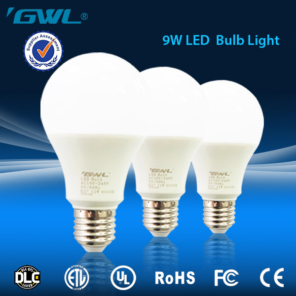Safe and reliable OEM cool white led light, High Brightness E27 energy saving cheap 9w a19 led bulb