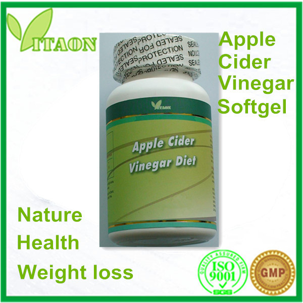 2015 New and ISO,GMP Certificate and OEM Private Label Apple Cider Vinegar Softgel for Weight Loss