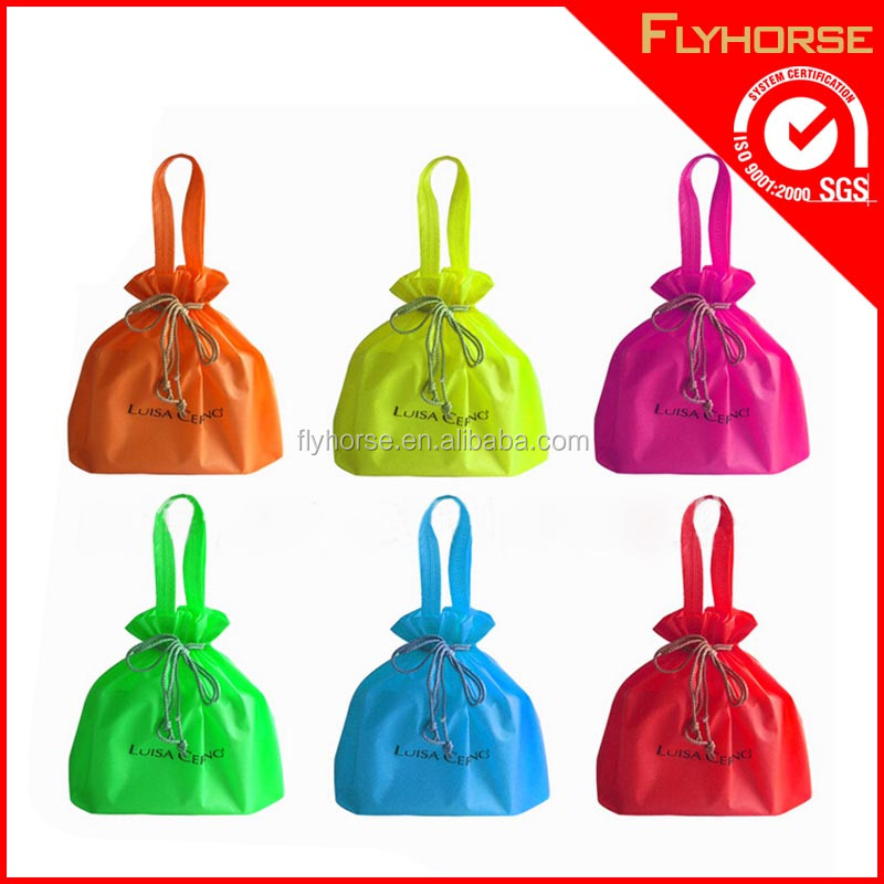 Promotional cheap nylon drawstring bag for gift