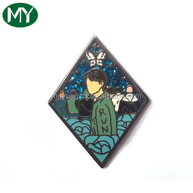 Hard  enamel badges metal pin badges with boy icon 000182