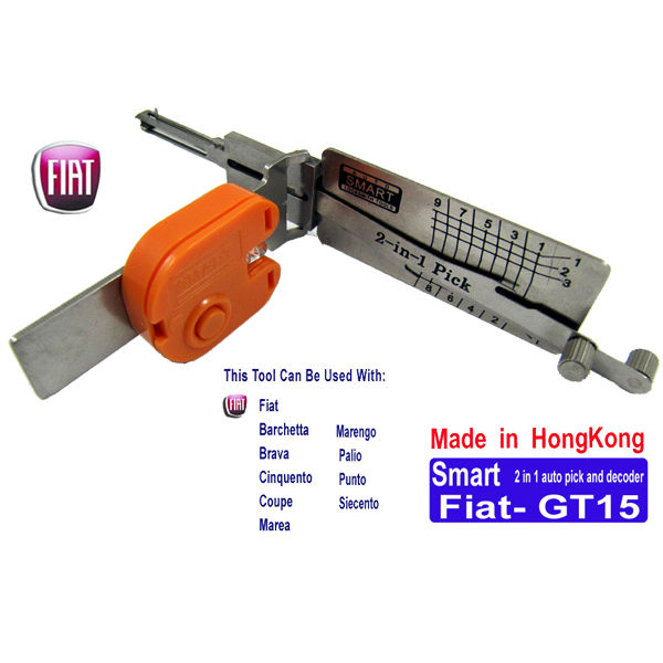 Smart Fiat GT15 2-in-1 Auto Pick and Decoder