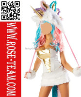 2015 New Arrival Sexy Halloween Carnival Fancy Dress Sexy Unicorn animal furry Costumes for Adult Men Women and Children Kids