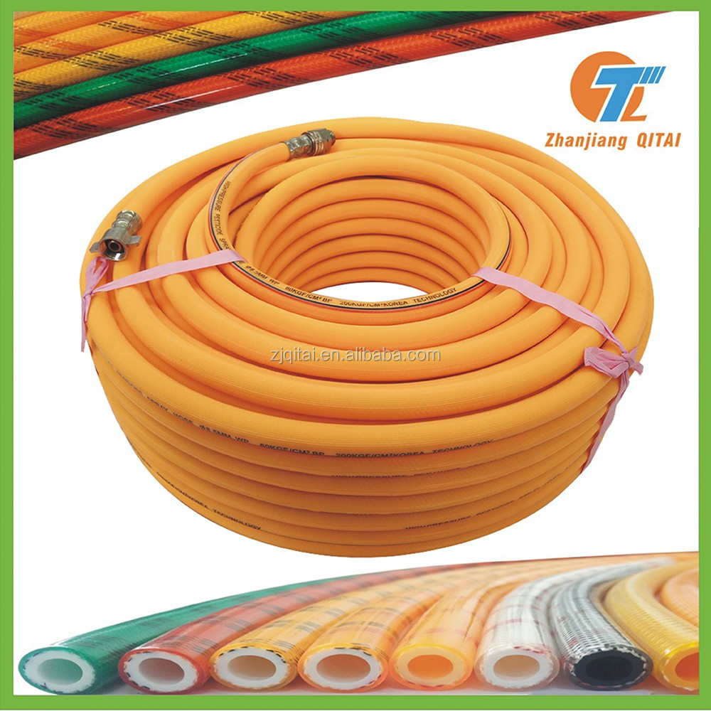5 Layers Pvc High Pressure Spray Hose With 2 Braided Reinforcement/Spraying hose high pressure