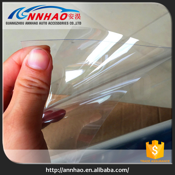 Good Quality 1.52*15m PVC Material White Back Transparent Car Protection Film for Car Paint
