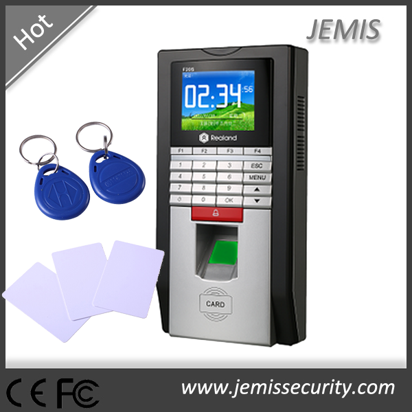 Realand Spanish/Arabic/Thai/French/Portuguese 2.4'' colorful display F20 biometric fingerprint access control
