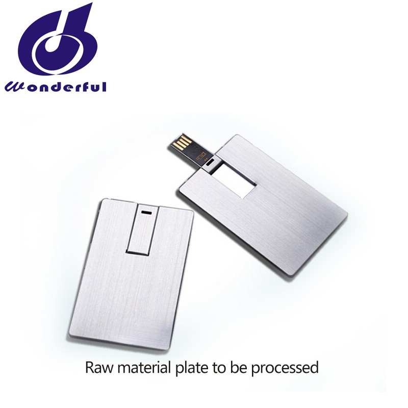 OEM Metal Business Card USB Flash drive with Customized Logo 4GB