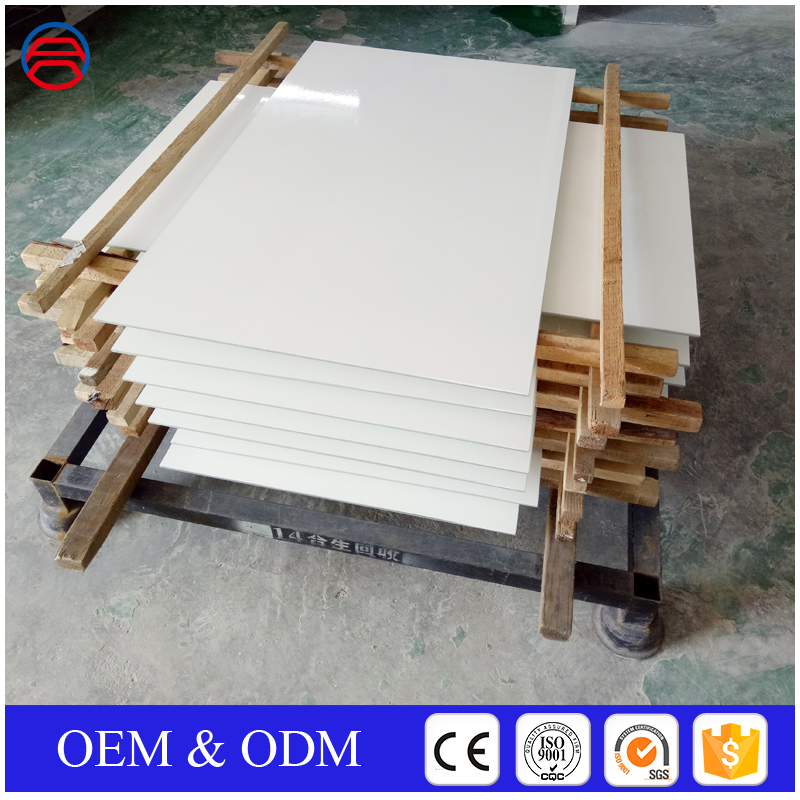 High quality Crazy Selling white lacquer table glass top
