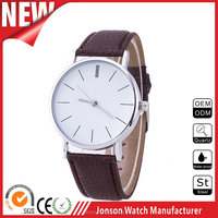 Tan genuine leather band 316L stainless steel case customise watch