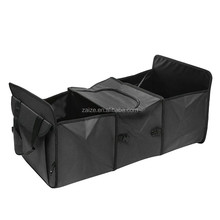 Foldable Multi Compartment Fabric Car Truck Van Storage Basket Trunk Organizer Cooler Set Three Compartments
