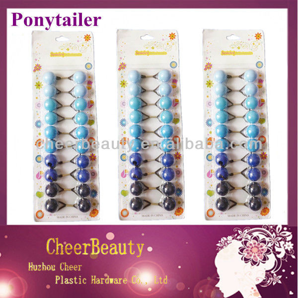 Ponytail rubber bands PT021/afro ponytail /synthetic hair ponytail holder