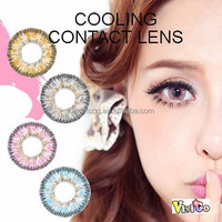 wholesale color contact lens yearly used cosmetic lenses cooling 4 colors choice