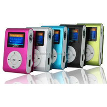 Professional screen mini clip mp3 player With LCD Screen earphones Support TF SD Card 4GB 8GB
