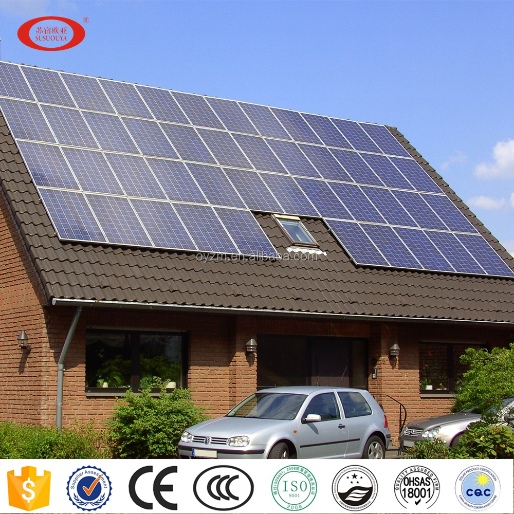 OUYA 1- 100kw solar power system on grid with solar panel, inverter and other accessories. One-Stop Service