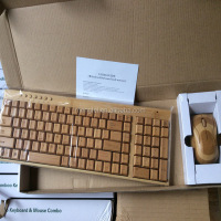 new wireless bamboo keyboard and mouse