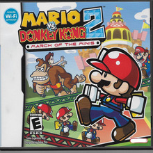 Retro video game for Mario vs. Donkey Kong 2: March of the Minis