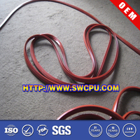 Custom make extruded soft window & door silicone rubber seal strip