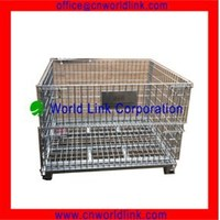 Heavy Duty Wire Galvanized Collapsible Pallet Steel Cage