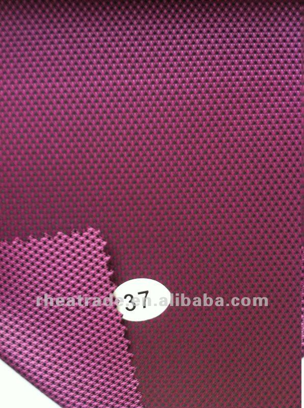 420D FDY Polyester Oxford Fabric 2Tone Dobby PU Coated Korea Quality