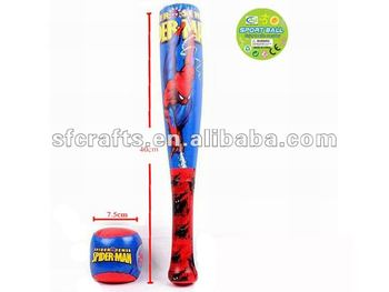 Spider-man baseball with bat
