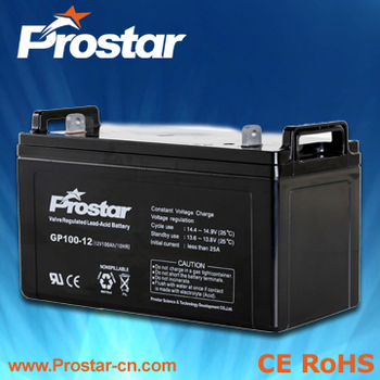 Prostar best agm battery solar 12v 100ah