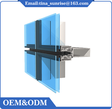 High quality cheap aluminum curtain wall extrusion profile