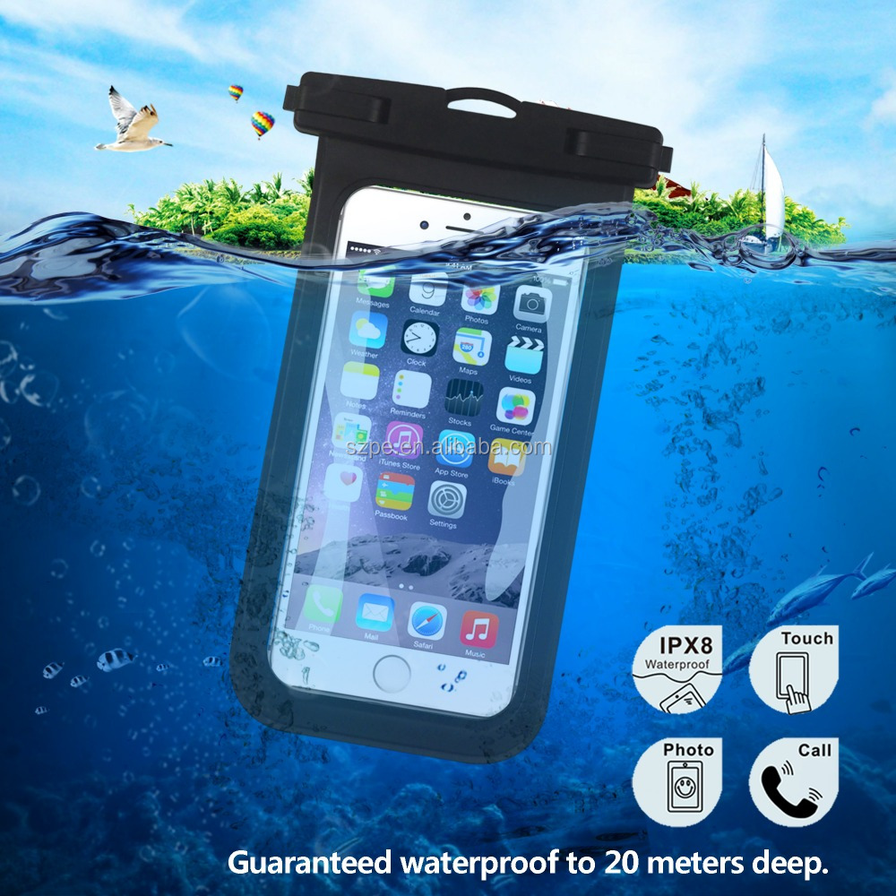 Factory Price Pvc Waterproof Watertight Case For Mobile Phone