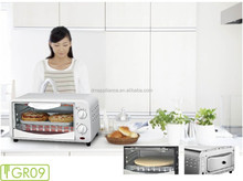 Cheaper freestanding Protable Mini 9L electric Oven toaster with bake tray wire rack tray handle