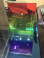 Nice rainbow tinted tempered glass