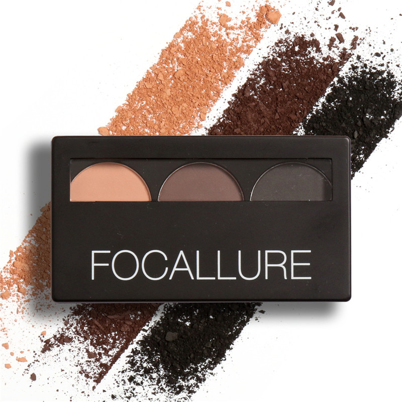 Waterproof Eye Shadow Eyebrow Powder Make Up Palette Women Beauty Cosmetic Eye Brow Makeup Kit Set by Focallure