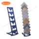 Giantmay wrought iron metal shelving floor standing units ceramic tile production exhibition display racks stand