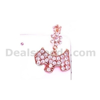 Diamond Wooden Horse Crystal 3.5mm Earphone Anti-dust Plug