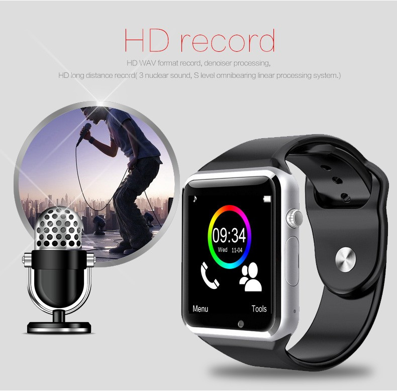 2019 Wireless WIFI Smart Watch A1 Sport Wrist Watch For Apple and Android With Camera FM Support SIM Card Watch
